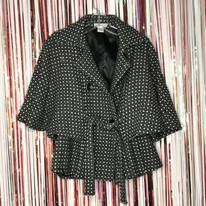 Steve Madden  Double Breasted Winter Capelet Coat